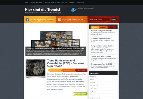 Screenshot Trend-Blogger.de - Hier sind die Trends!