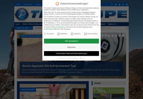 Screenshot Trendlupe Trends Gadgets