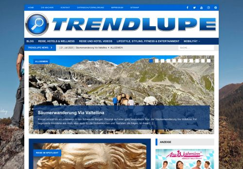 Screenshot Trendlupe Trends Gadgets