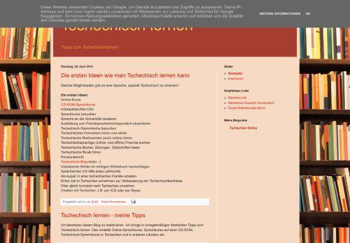 Screenshot Tschechisch