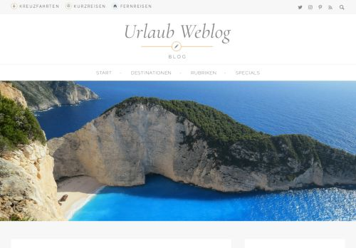 Screenshot Urlaub Weblog