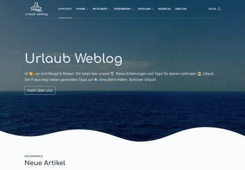 Screenshot Urlaub Weblog