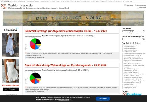 Screenshot Wahlumfrage.de