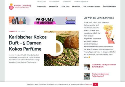 Screenshot Welt der Düfte & Parfüme