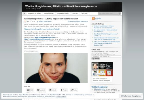 Screenshot Wiebke Hoogklimmer, Altistin