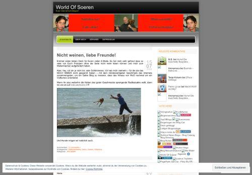 Screenshot World Of Soeren - Soerens ahmseeliker Satire Blog