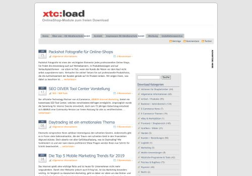 Screenshot xtc-load - Module zum freien Download